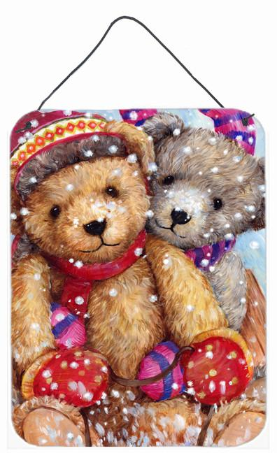 Winter Snow Teddy Bears Wall or Door Hanging Prints CDCO0461DS1216 by Caroline's Treasures