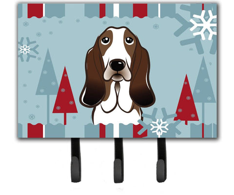 Buy this Winter Holiday Basset Hound Leash or Key Holder BB1739TH68