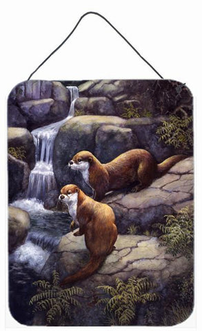 Buy this Otters by the Waterfall by Daphne Baxter Wall or Door Hanging Prints BDBA0293DS1216