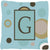 Monogram - Initial G Blue Dots Decorative   Canvas Fabric Pillow CJ1013 by Caroline's Treasures