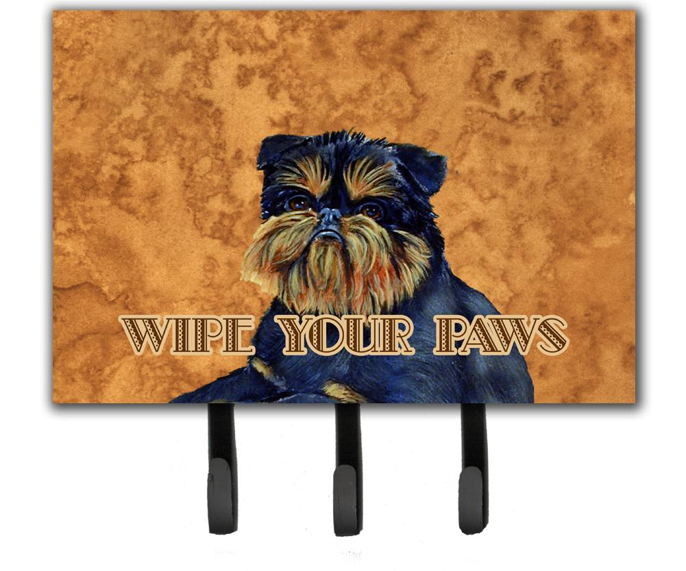 Brussels Griffon Wipe your Paws Leash or Key Holder by Caroline's Treasures
