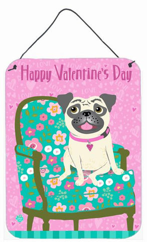 Buy this Happy Valentine's Day Pug Wall or Door Hanging Prints VHA3002DS1216