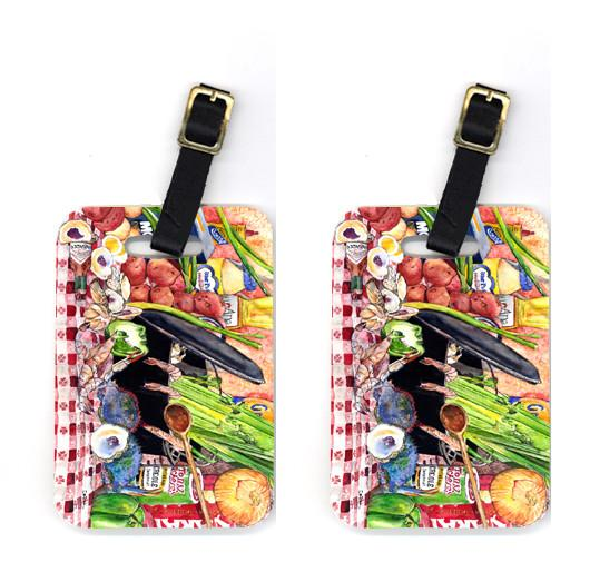 Buy this Pair of Gumbo and Potato Salad Luggage Tags