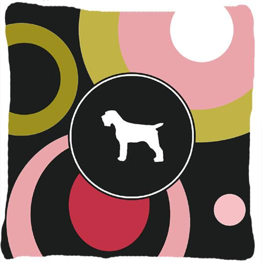 Wirehair Pointing Griffon Decorative   Canvas Fabric Pillow by Caroline's Treasures