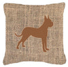 Boxer Burlap and Brown   Canvas Fabric Decorative Pillow BB1109 - the-store.com