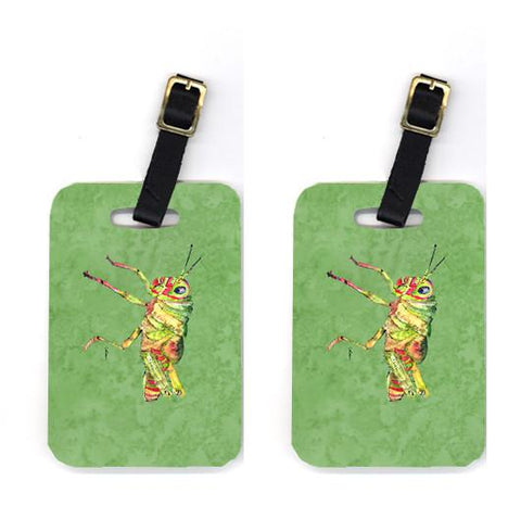 Buy this Pair of Grasshopper on Avacado Luggage Tags