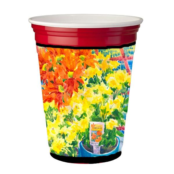 Buy this Flower - Mums Red Solo Cup Beverage Insulator Hugger