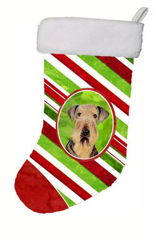 Buy this Airedale Candy Cane Holiday Christmas  Christmas Stocking SC9333