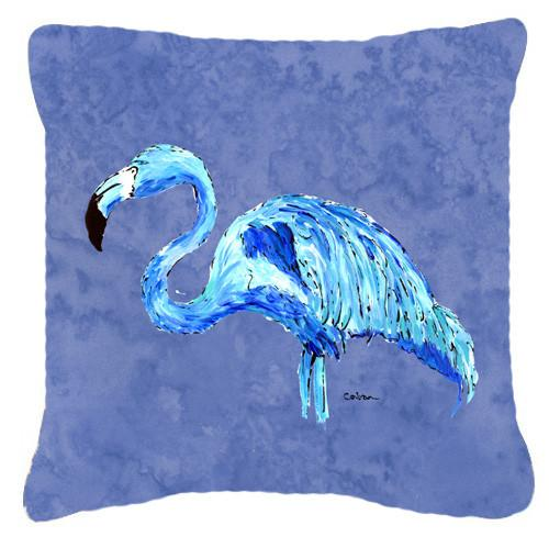 Buy this Flamingo On Slate Blue   Canvas Fabric Decorative Pillow