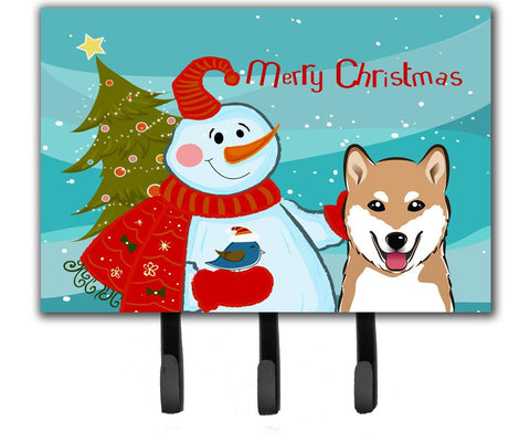 Buy this Snowman with Shiba Inu Leash or Key Holder BB1845TH68