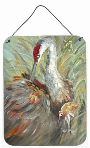 Buy this Sandhill Crane with baby Wall or Door Hanging Prints JMK1143DS1216