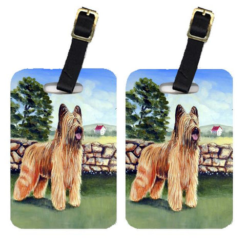 Buy this Pair of 2 Briard by the stone fence Luggage Tags