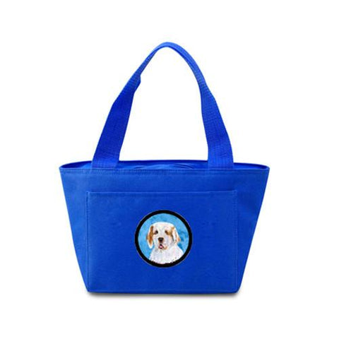 Buy this Blue Clumber Spaniel  Lunch Bag or Doggie Bag SS4776-BU
