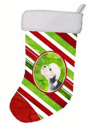 Buy this Dandie Dinmont Terrier Winter Snowflakes Christmas Stocking SS4572