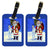 Pair of 2 Harlequin Great Dane with Santa Claus Luggage Tags by Caroline's Treasures