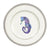 Seahorse Ceramic Dinner Plate Round Platinum Rim by Caroline's Treasures