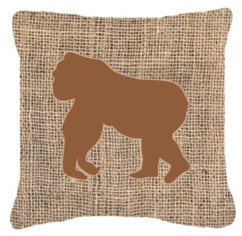 Buy this Gorilla Burlap and Brown   Canvas Fabric Decorative Pillow BB1129