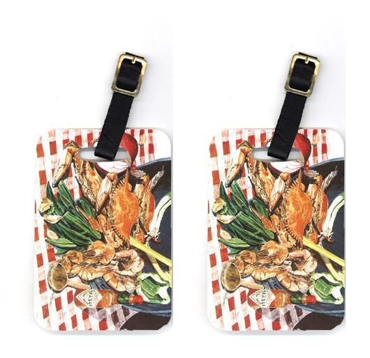 Buy this Pair of Crab Boil Luggage Tags
