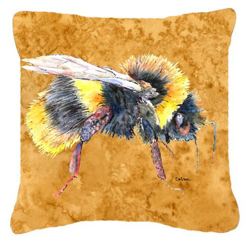 Bee on Gold   Canvas Fabric Decorative Pillow by Caroline's Treasures