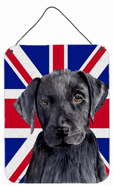 Labrador with English Union Jack British Flag Wall or Door Hanging Prints SC9821DS1216 by Caroline's Treasures