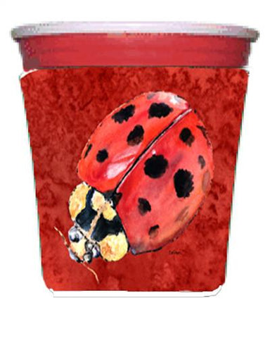 Buy this Lady Bug on Deep Red Red Solo Cup Beverage Insulator Hugger
