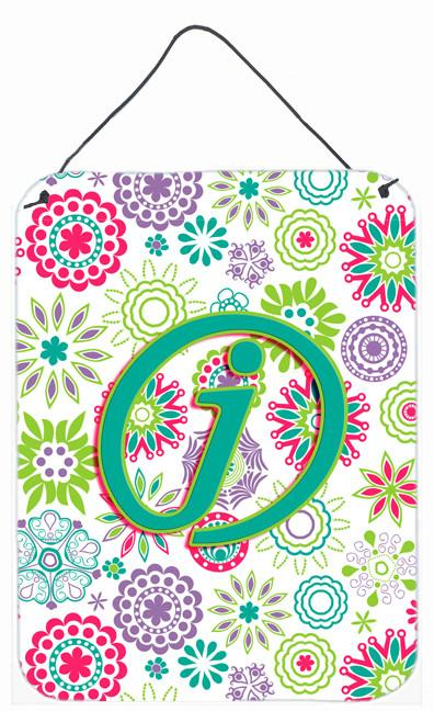 Buy this Letter J Flowers Pink Teal Green Initial Wall or Door Hanging Prints CJ2011-JDS1216