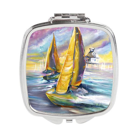Buy this Middle Bay Lighthouse Sailboats Compact Mirror JMK1234SCM