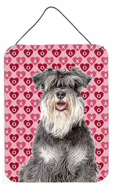 Hearts Love and Valentine's Day Schnauzer Wall or Door Hanging Prints KJ1192DS1216 by Caroline's Treasures