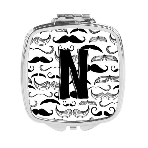 Letter N Moustache Initial Compact Mirror CJ2009-NSCM by Caroline's Treasures