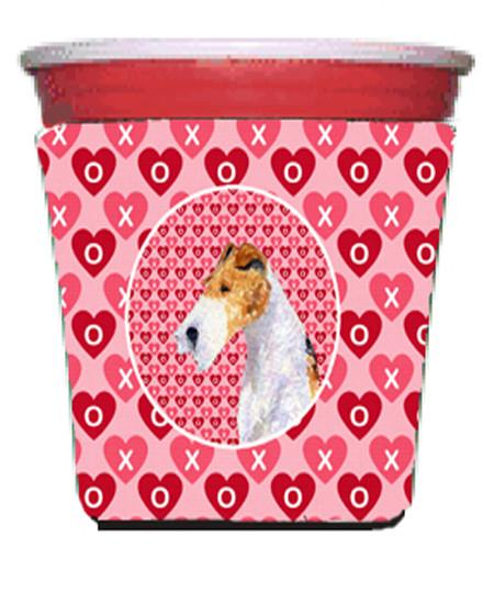 Fox Terrier  Red Solo Cup Beverage Insulator Hugger by Caroline's Treasures