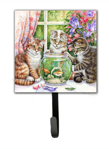 Buy this White Tabby by Debbie Cook Leash or Key Holder CDCO325ASH4