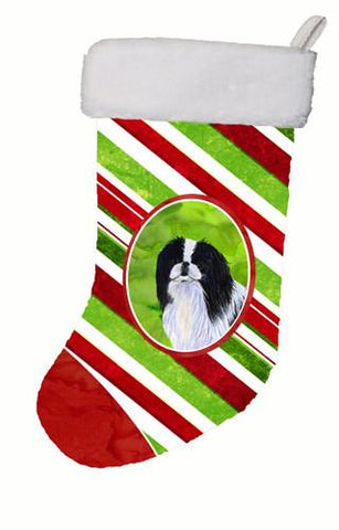 Buy this Japanese Chin Winter Snowflakes Christmas Stocking SS4536