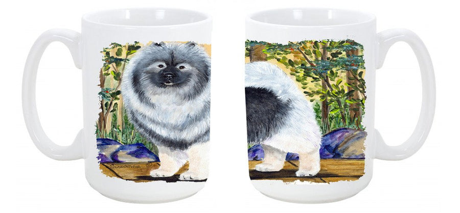 Buy this Keeshond Dishwasher Safe Microwavable Ceramic Coffee Mug 15 ounce SS8127CM15