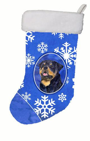 Buy this Rottweiler Winter Snowflakes Christmas Stocking SS4662