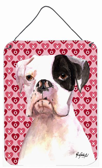 Buy this Cooper Love and Hearts Boxer Aluminium Metal Wall or Door Hanging Prints