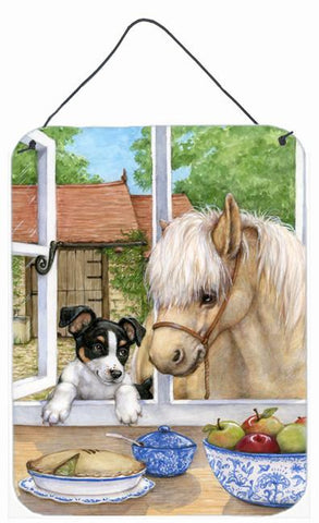 Buy this Jack Russel Puppy and Foal Horse Wall or Door Hanging Prints CDCO0379DS1216