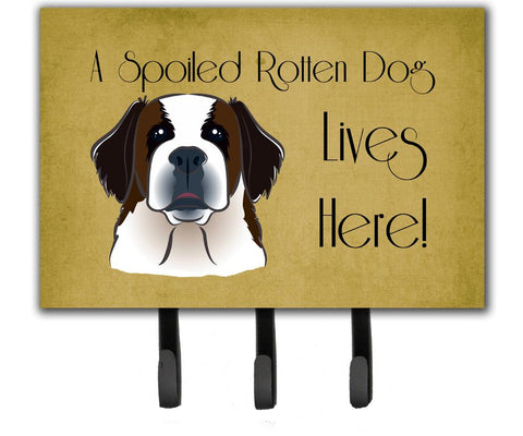 Buy this Saint Bernard Spoiled Dog Lives Here Leash or Key Holder BB1494TH68