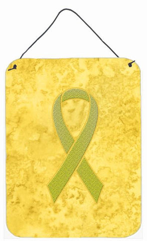 Buy this Yellow Ribbon for Sarcoma, Bone or Bladder Cancer Awareness Wall or Door Hanging Prints AN1203DS1216
