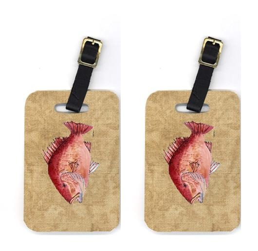 Buy this Pair of Strawberry Snapper Luggage Tags