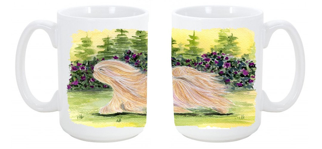 Buy this Lhasa Apso Dishwasher Safe Microwavable Ceramic Coffee Mug 15 ounce SS8328CM15