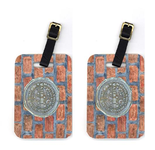 Buy this Pair of New Orleans Watermeter on Bricks Luggage Tags