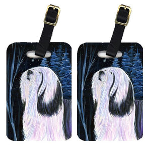 Buy this Pair of 2 Tibetan Terrier Luggage Tags