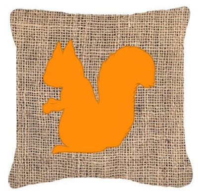 Buy this Squirrel Burlap and Orange   Canvas Fabric Decorative Pillow BB1119