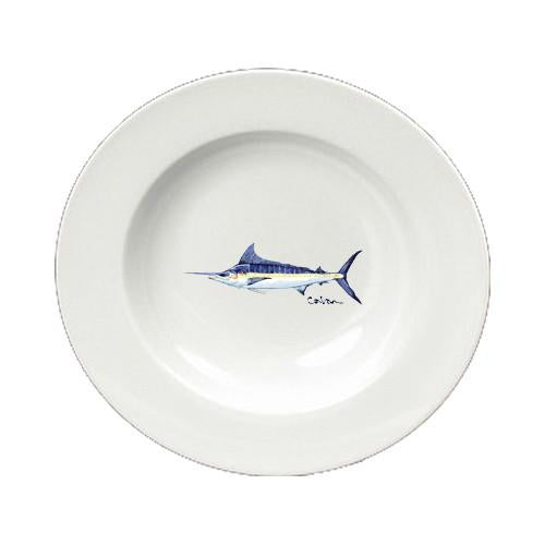 Buy this Fish Blue Marlin Ceramic - Bowl Round 8.25 inch 8674-SBW