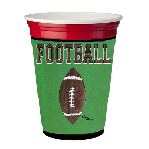 Buy this Football Red Solo Cup Beverage Insulator Hugger