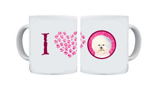 Bichon Frise  Dishwasher Safe Microwavable Ceramic Coffee Mug 15 ounce SS4802 by Caroline's Treasures
