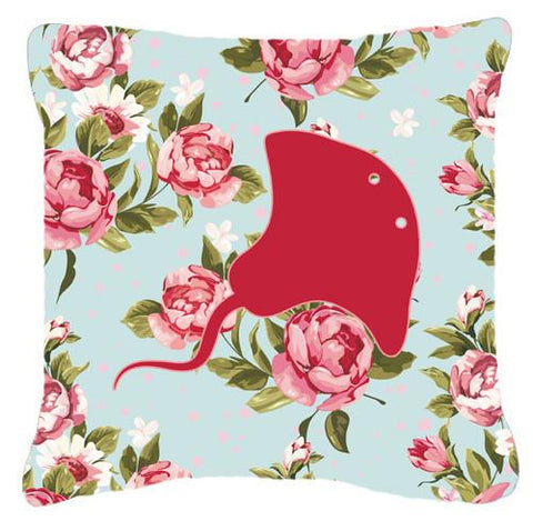 Buy this Stingray Shabby Chic Blue Roses   Canvas Fabric Decorative Pillow BB1095