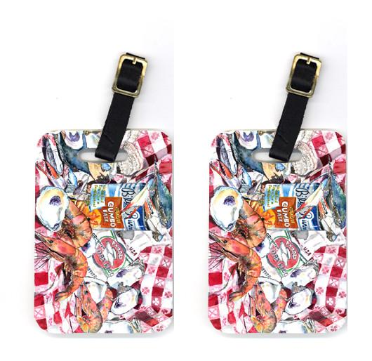 Buy this Pair of Blue Runner Gumbo Receipe Luggage Tags