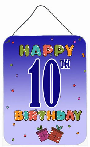 Buy this Happy 10th Birthday Wall or Door Hanging Prints CJ1101DS1216