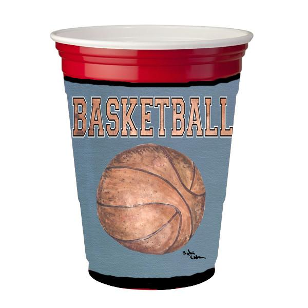 Basketball Red Solo Cup Beverage Insulator Hugger by Caroline's Treasures